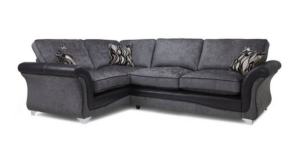 Clara Right Hand Facing 3 Seater Formal Back Deluxe Corner Sofa Bed