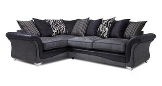 Clara Right Hand Facing 3 Seater Pillow Back Deluxe Corner Sofa Bed