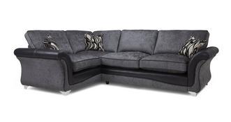 Clara Right Hand Facing 3 Seater Formal Back Supreme Corner Sofa Bed