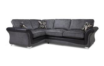 Right Hand Facing 3 Seater Formal Back Supreme Corner Sofa Bed Clara