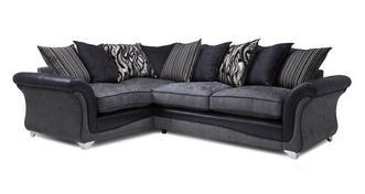 Clara Right Hand Facing 3 Seater Pillow Back Supreme Corner Sofa Bed