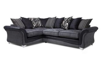 Right Hand Facing 3 Seater Pillow Back Supreme Corner Sofa Bed Clara