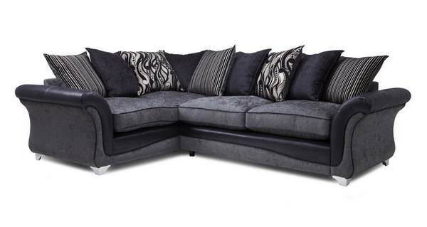 Clara Right Hand Facing 3 Seater Pillow Back Supreme Corner Sofa Bed