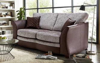 Clarice Large 2 Seater Formal  Back Deluxe Sofa Bed Clarice