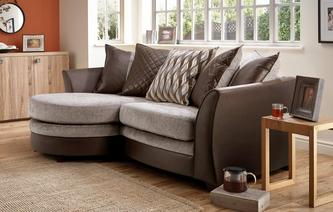 Clarice 4 Seater Pillow Back Lounger Sofa Clarice