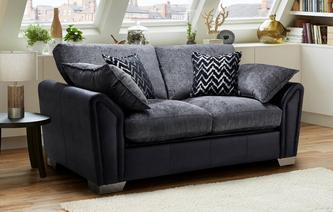 Clarissa Formal Back 2 Seater Deluxe Sofa Bed Carrara
