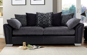 Clarissa Pillow Back 4 Seater Sofa Carrara