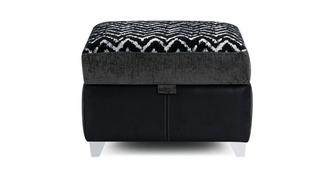 Clarissa Pattern Top Storage Footstool