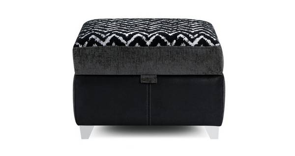 Clarissa Pattern Top Storage Footstool