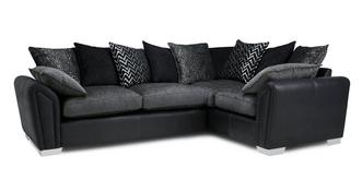 Clarissa Pillow Back Left Hand Facing 3 Seater Corner Sofa