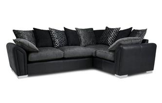 Pillow Back Left Hand Facing 3 Seater Corner Sofa Carrara