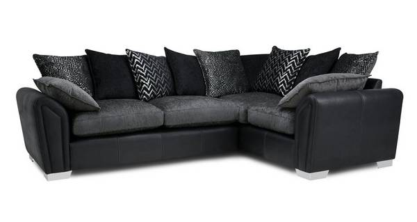 Clarissa Pillow Back Left Hand Facing 3 Seater Corner Sofa