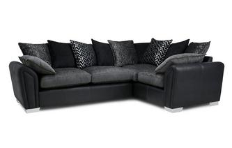Clarissa Pillow Back Left Hand Facing Corner Deluxe Sofa Bed Carrara