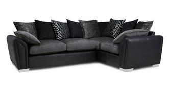 Clarissa Pillow Back Left Hand Facing Corner Supreme Sofa Bed
