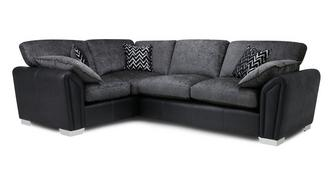 Clarissa Formal Back Right Hand Facing Supreme Corner Sofa Bed