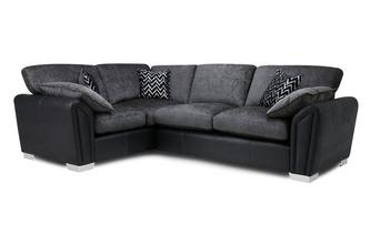 Formal Back Right Hand Facing Supreme Corner Sofa Bed Carrara