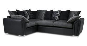 Clarissa Pillow Back Right Hand Facing Supreme Corner Sofa Bed