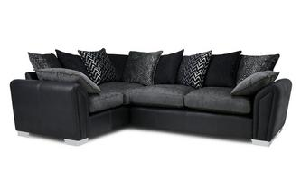 Pillow Back Right Hand Facing Supreme Corner Sofa Bed Carrara