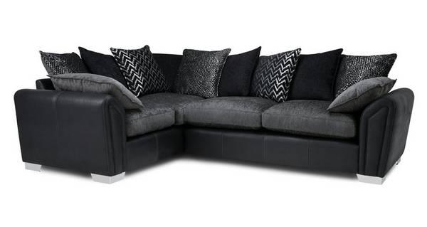 Clarissa Pillow Back Right Hand Facing Supreme Corner Sofa Bed