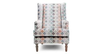 Claudette Pattern Wing Chair