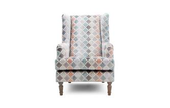 Pattern Wing Chair Claudette Pattern