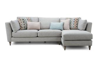 Right Hand Facing Chaise Sofa Claudette Plain