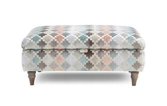 Pattern Storage Banquette Footstool Claudette Pattern