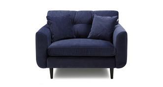 Clay Velvet Cuddler Sofa