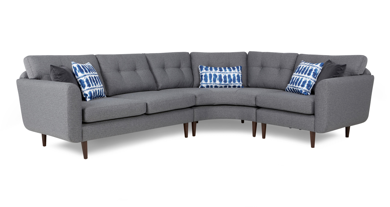 Clay linkszijdige gebogen 2 zits hoek 1 zit sofa dfs banken - Hoek sofa x ...