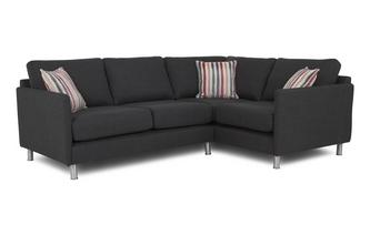 Left Hand Facing 2 Seater Corner Sofa Cleo Plain