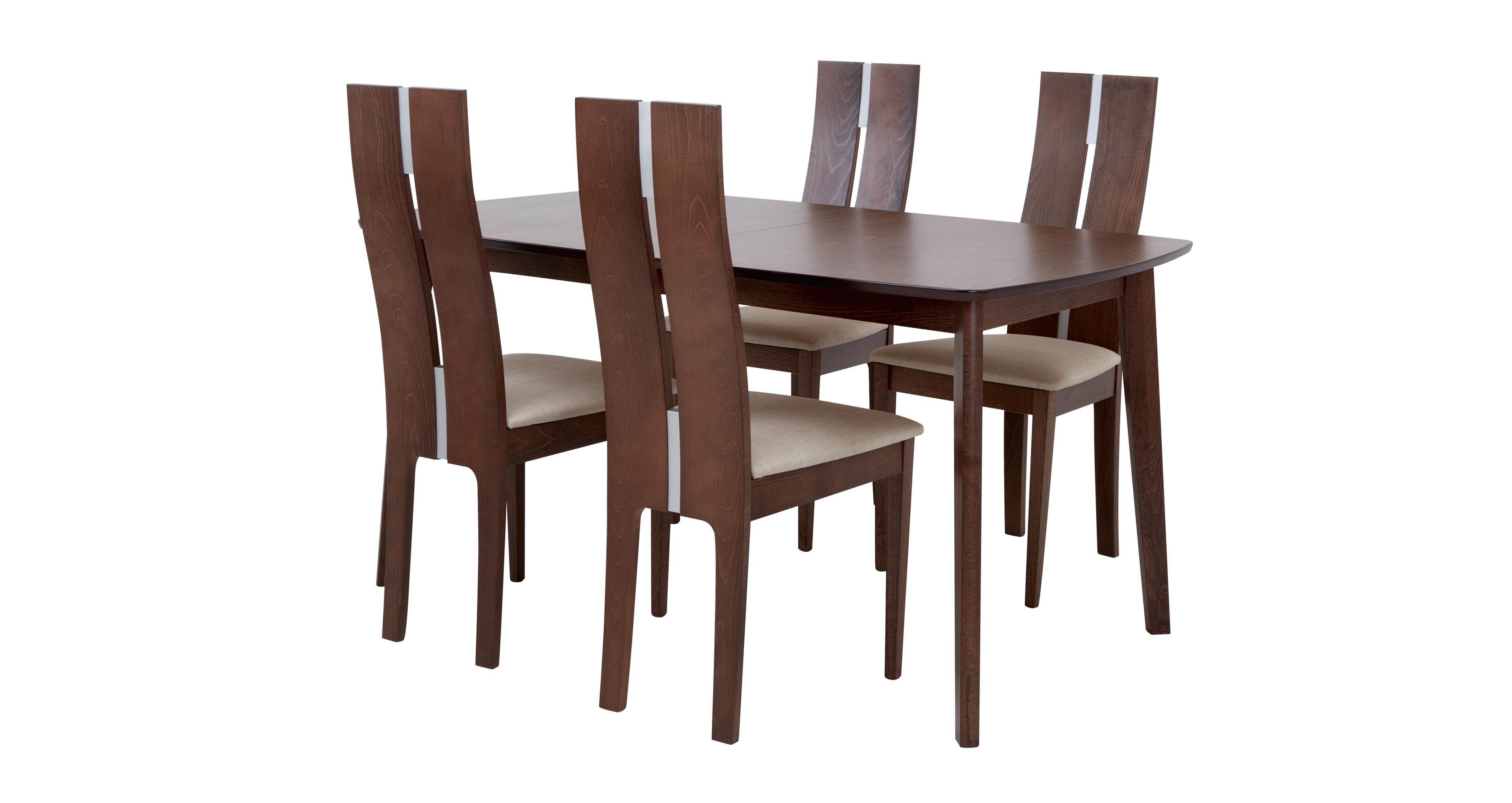 Clifton Extending Dining Table Set Of 4 Tall Back Chairs