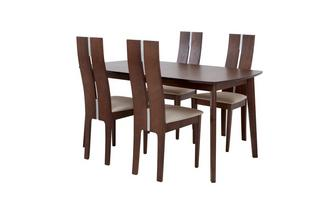 Extending Dining Table & Set of 4 Tall Back Chairs Clifton