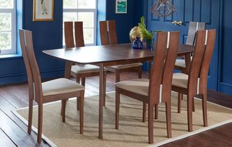 Clifton Extending Dining Table & Set of 4 Tall Back Chairs Clifton