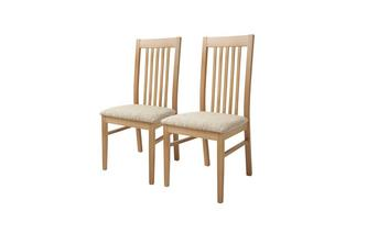 Set of 2 Slat Back Dining Chairs Clover Slat Back Chair