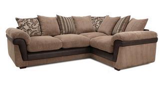 Coburn Left Hand Facing 3 Seater Pillow Back Corner Sofa