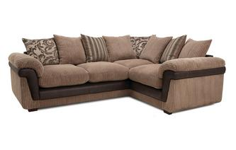 Left Hand Facing 3 Seater Pillow Back Corner Sofa Inception