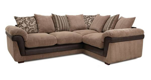 Coburn Left Hand Facing 2 Seater Pillow Back Corner Sofa