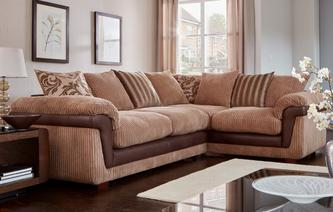 Coburn Left Hand Facing 3 Seater Pillow Back Corner Sofa Inception