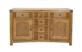 Large Sideboard with 2 Doors and 6 Drawers