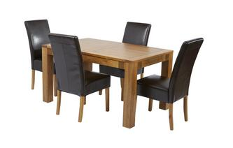 Small Extending Dining Table & Set of 4 Ariana Light Leg Chairs Ariana Chair