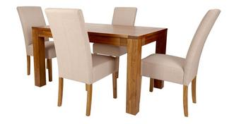 Colorado Small Extending Dining Table & Set of 4 Tunis Light Leg Chairs