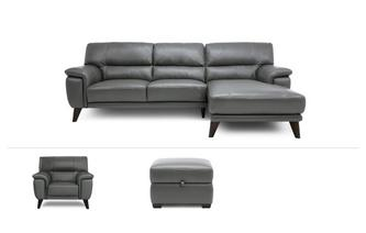 Right Hand Chaise End Sofa, Chair & Stool