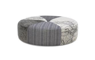 Pattern Round Footstool Columbus