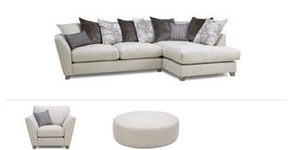 Columbus Clearance Medium Corner Sofa, Chair & Stool