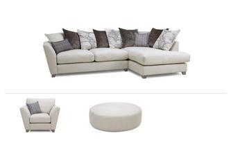 Medium Corner Sofa, Chair & Stool Columbus