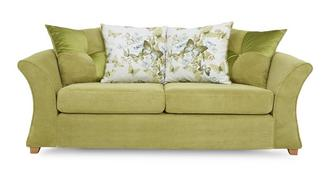 Corinne 3 Seater Pillow Back Sofa Bed