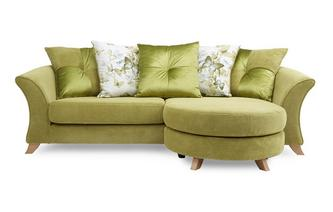 4 Seater Pillow Back Lounger Sofa Corinne