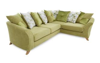 Left Hand Facing 3 Seater Pillow Back Corner Sofa Corinne