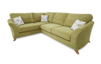 Right Hand Facing 3 Seater Formal Back Corner Sofa Corinne