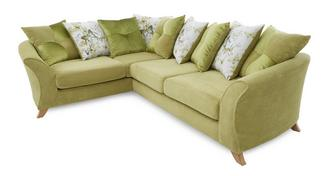 Corinne Right Hand Facing 3 Seater Pillow Back Corner Sofa